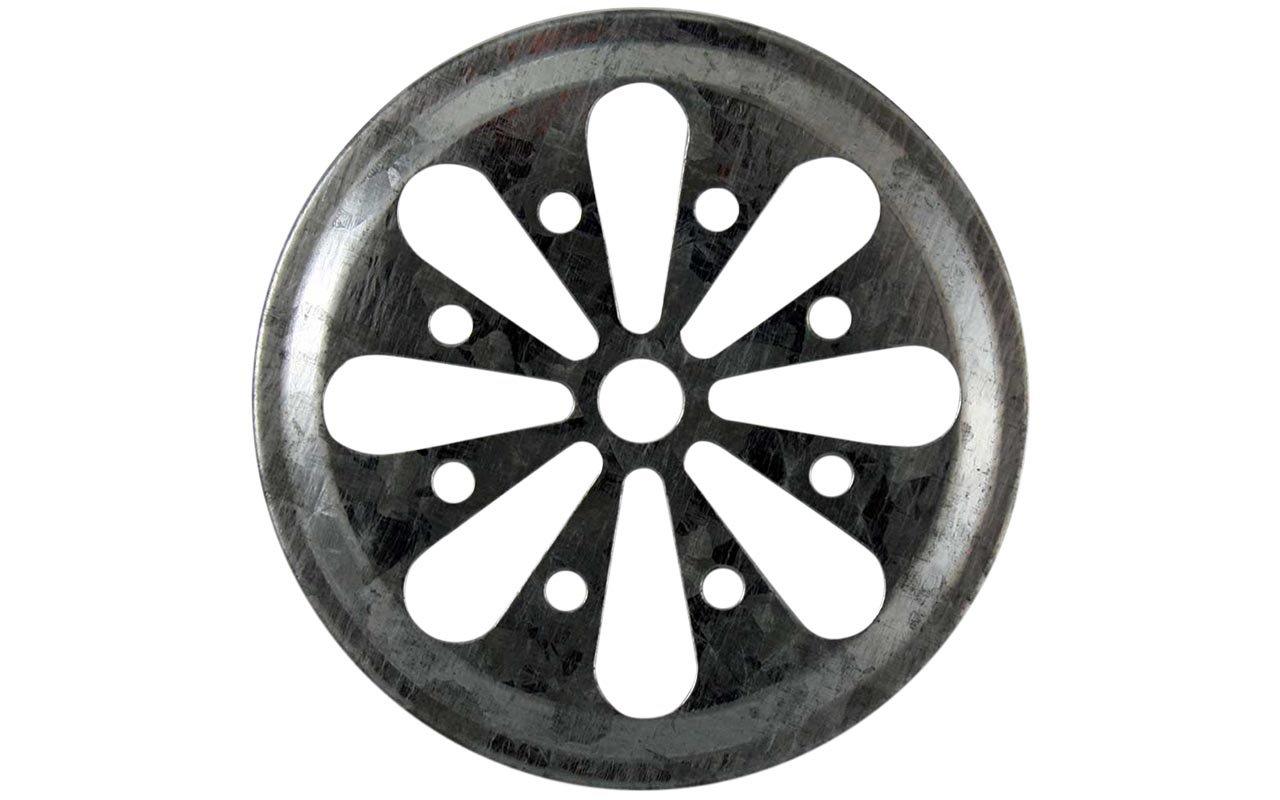 Daisy Cut Galvanized Metal Lid Inserts for Mason Jars (10 Pack, Regular Mouth) Mason Jar Lifestyle