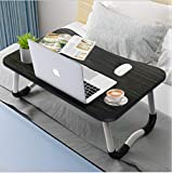 Widousy Laptop Bed Table, Breakfast Tray with Foldable Legs, Portable Lap Standing Desk, Notebook Stand Reading Holder for Co