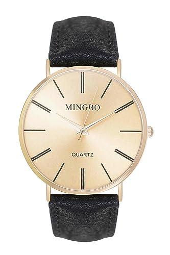 Reloj Mingbo números romanos colour: dorado negro reloj colgante reloj Trend Bloggeruhr relojes de pulsera