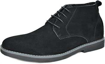 BRUNO MARC NEW YORK Mens Classic Original Suede Leather Desert Storm Chukka Boots