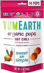 YumEarth Organic Hot Chili Lollipops, 14 Lollipops (Pack of 6)