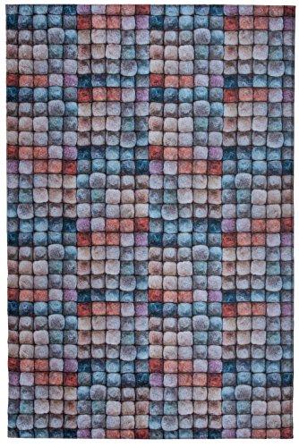 Mylife Rugs Biella Collection Contemporary Modern Non Slip (Non-Skid) Machine Washable Area Rug (4'x6', Multicolor)