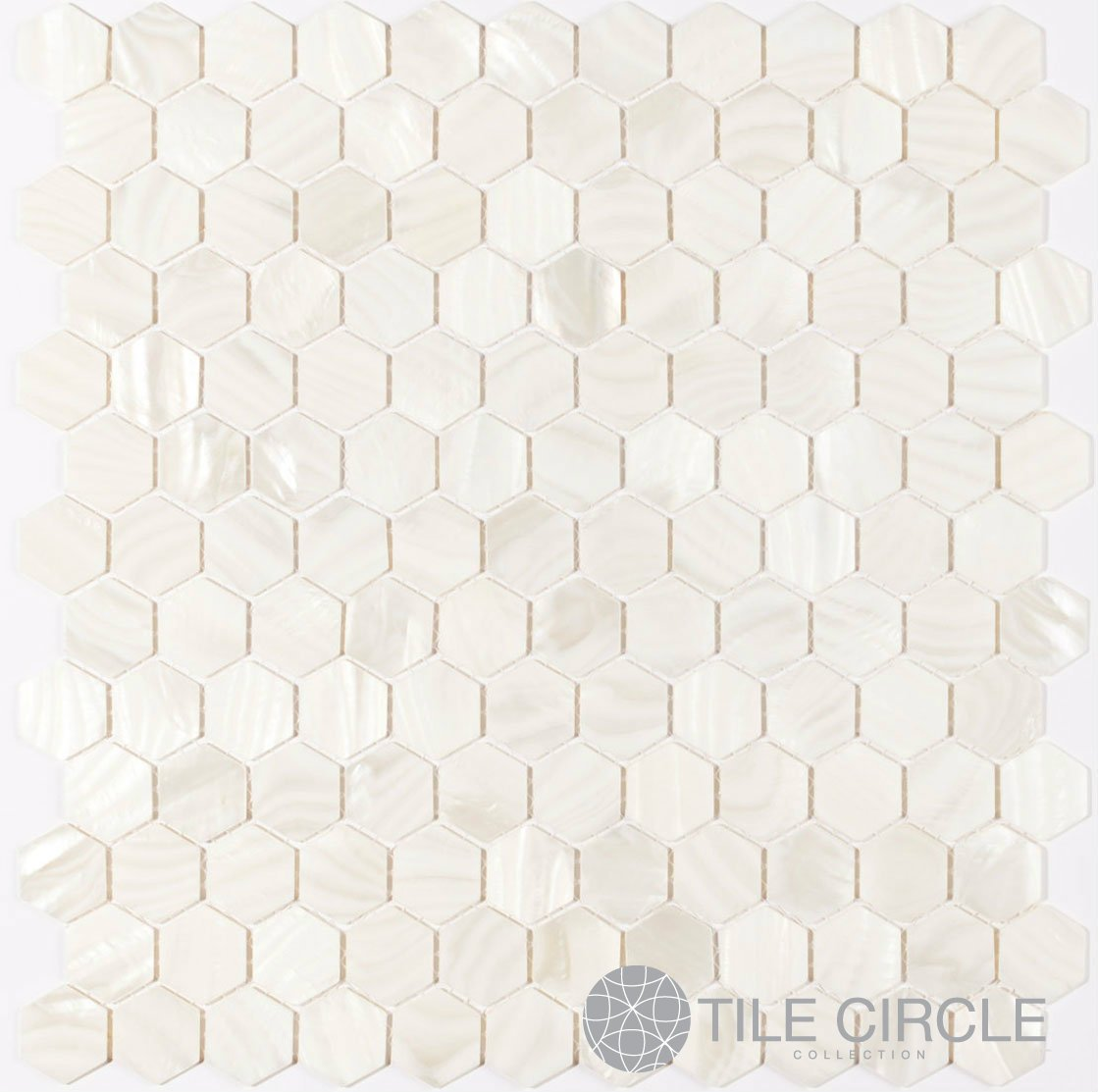 Genuine mother of pearl shell tile white 1 hexagons on a 12 x genuine mother of pearl shell tile white 1 hexagons on a 12 x 12 mesh for backsplash and bathroom walls and floors ceramic tiles amazon dailygadgetfo Images