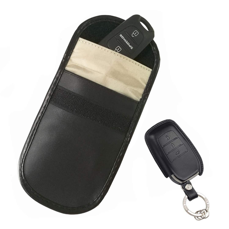 YHmall 2 Piezas Bolsa Faraday para Llaves de Coche con Bloqueador RFID de Se/ñal