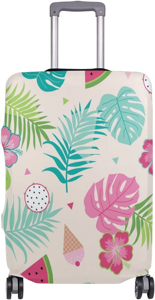 OREZI 3D Tropical Leaf Luggage Protector Suitcase Cover 18-32 Inch