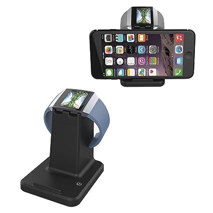 AUZXY Cargador para Reloj Inteligente, Cargador iónico Cargador USB para teléfono móvil Dos en uno
