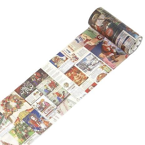 Scrox 1Pieza Navidad Washi Tapes Kawaii Decoracion Cinta Adhesiva Dibujos Animados Pegatinas Creativo Scrapbooking Materiales Navidad