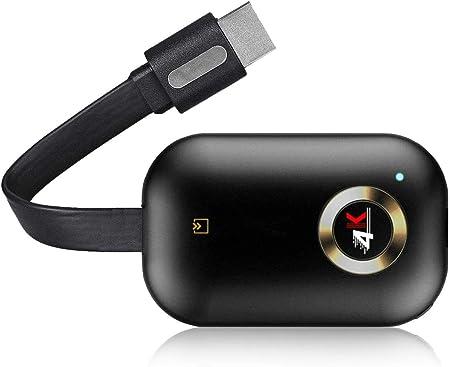 Adaptador inalámbrico de pantalla Dongle, 5G/2.4G WiFi, receptor de pantalla portátil 1080P HDMI, Dongle Receptor Miracast DLNA Airplay para ...