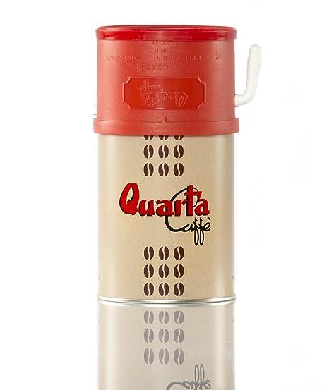 Quarta Caffè DOSIFICADOR Quarta - Lata con 250g de Caffè Quarta Mezcla Oro con práctico dosificador