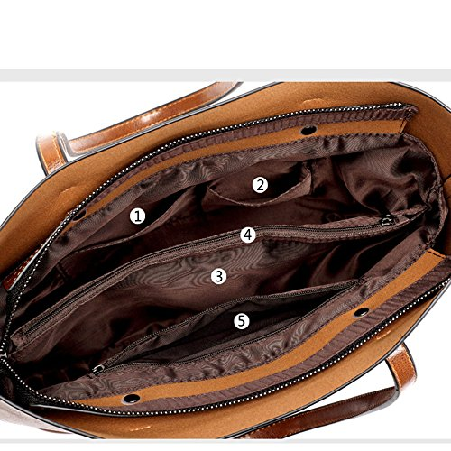 Brown Daypack Dimensioni inverno In Borse colore Di Brown Autunno Pelle Donna Vacchetta M Da 61qwvS