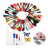 Magic Embroidery Stitching Punch Needles Pen Set Craft Tool for DIY Threaders Sewing Knitting Kit Embroidery Patterns with Case