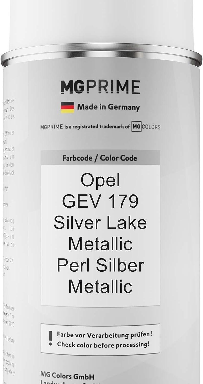 Mg Prime Autolack Sprühdosen Set Für Opel Gev 179 Silver Lake Metallic Perl Silber Metallic Basislack Klarlack Spraydose 400ml Auto