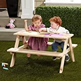 Kids Picnic Table Made of Wood for Indoor or Outdoor 31L x 35W x 19.6H in.