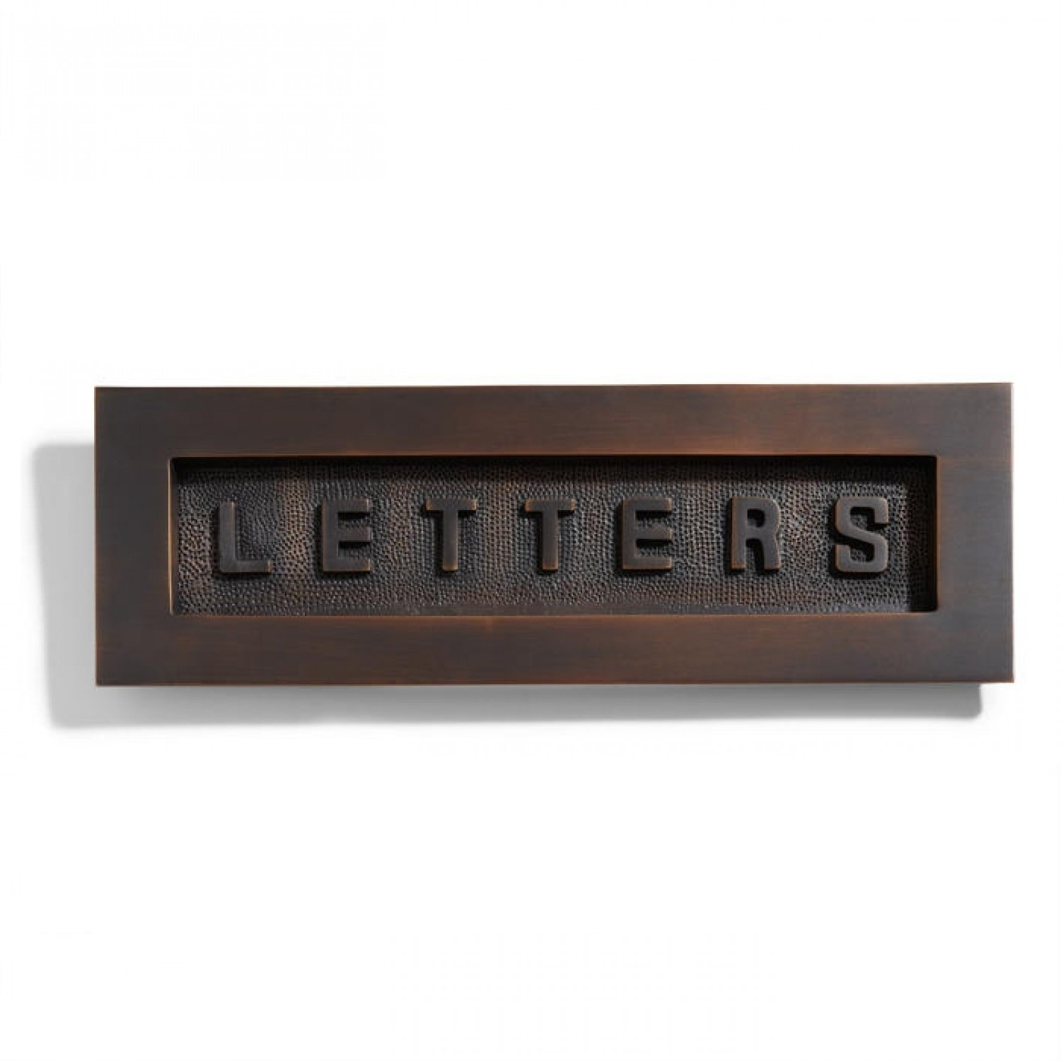 Naiture Contemporary Solid Brass ''letters'' Mail Slot in Oil Rubbed Bronze Finish