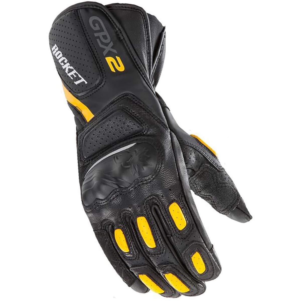 Black//Black//Large Joe Rocket GPX 2.0 Mens Street Motorcycle Gloves