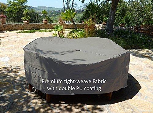 Premium Tight Weave Fabric Patio Set Cover 104