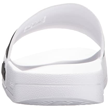 huge selection of 70f31 3d776 ... adidas Men s Adilette Shower Slide Sandal, White Black White, 9 M US ...