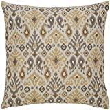 Ashley Furniture Signature Design - Damarion Ikat Design Throw Pillow - Traditional - Taupe Gold Tan