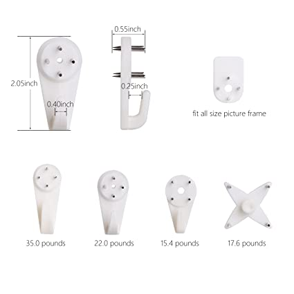 Greenour wall picture hooks Invisible Traceless Hardwall Drywall ...
