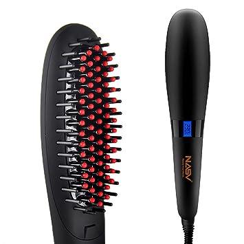 cepillo de pelo eléctrico alisador de cabello plancha para cepillo de cerámica Hair alisador de pelo glättungsbuerste con pantalla LCD: Amazon.es: Salud y ...