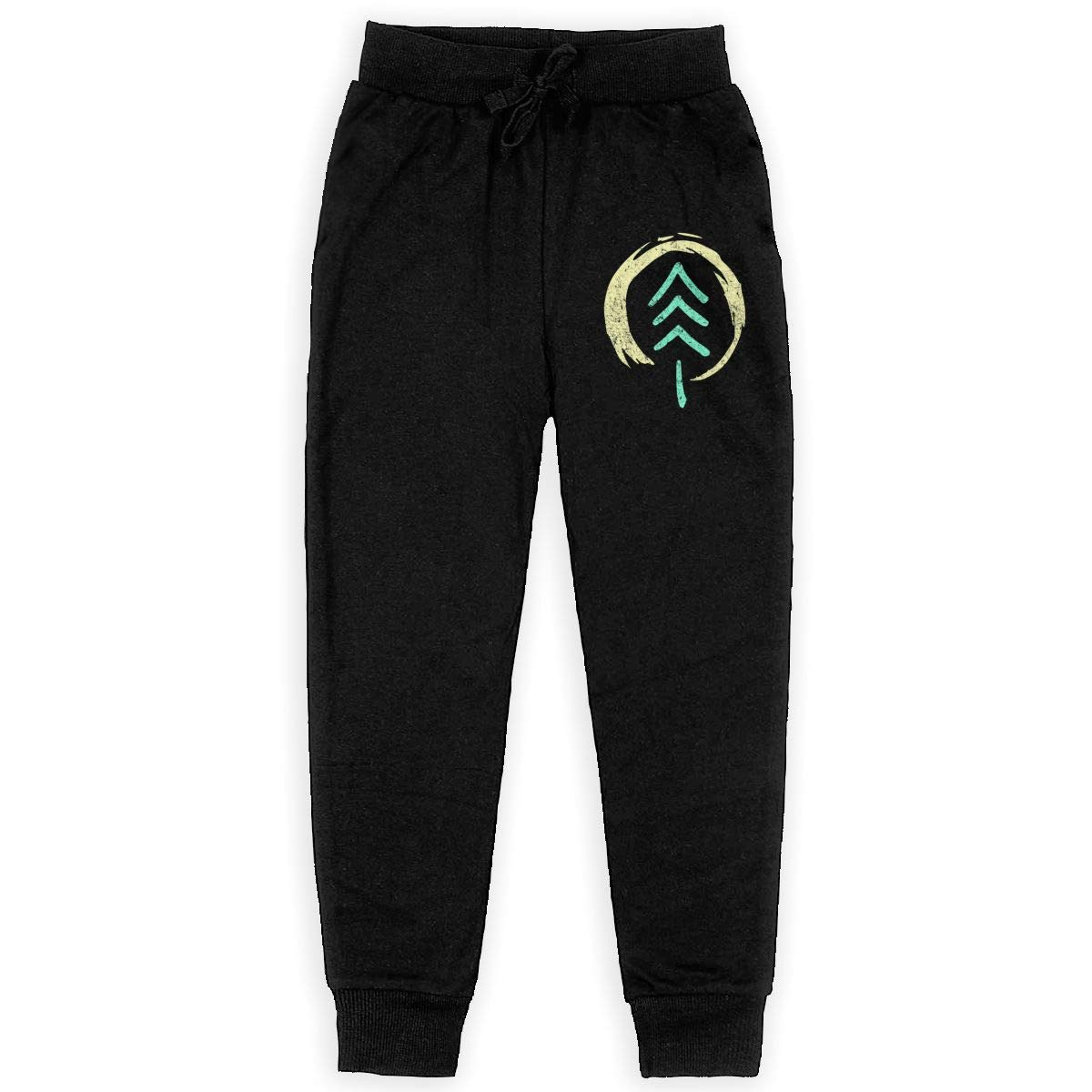 Kim Mittelstaedt Forest Soul Boys Big Active Basic Casual Pants Sweatpants for Boys Black