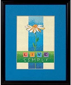 Dimensions Needlecrafts 6975 Counted Cross Stitch, Live Simply