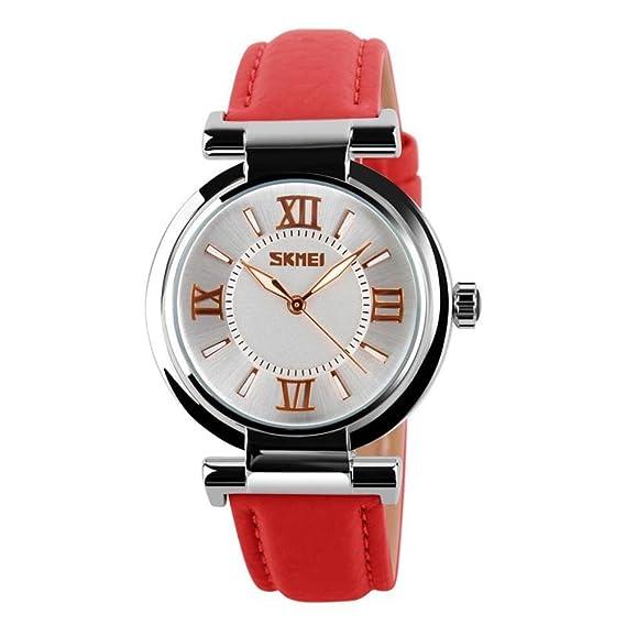 Relojes moda impermeable puntero/Moda simple temperamento personalidad correa colegialas watch-C: Amazon.es: Relojes