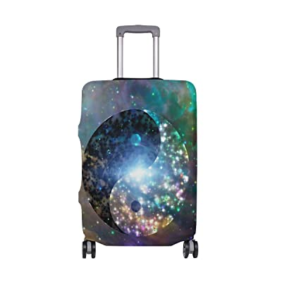 ALAZA Yin Yang Celestial Galaxy Luggage Cover Fits 18-32 Inch Suitcase Spandex Travel Protector