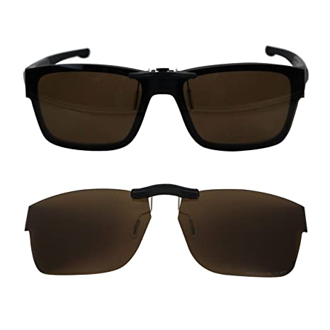 c7d8ca9595 Custom Polarized Clip on Sunglasses For Oakley Splinter 54 OX8077 54-18-137  (Brown) - - Amazon.com