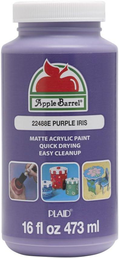 Apple Barrel Acrylic Paint, 16 oz, Purple Iris