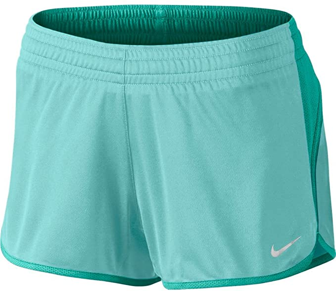 Nike Women s Dri Fit Young and Fast 3.5 inch Running Athletic Yoga Shorts  (Aqua 47dfef9bf