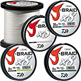 Daiwa J-Braidx8 JB8U40-3000MU 10 lbs Test, Multi-Color Bulk, Multicolor
