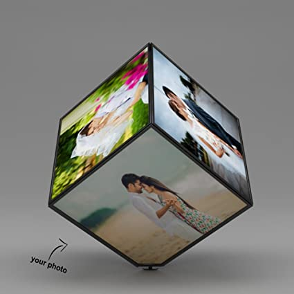 ecbb0e768141 Buy k1gifts Lovely Personalized Rotation 6 Photo Frame Black Cube Gifts for  All Occasions Online at Low Prices in India - Amazon.in