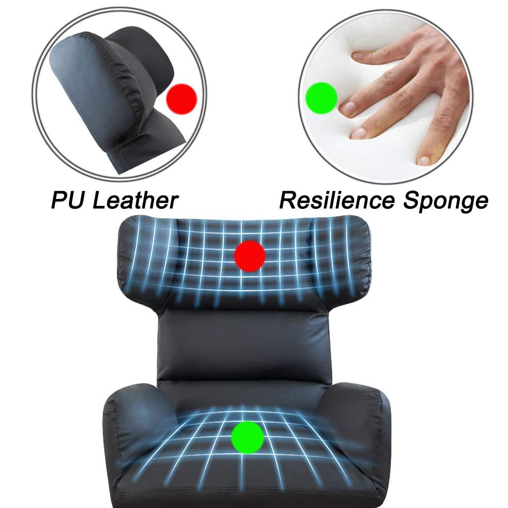 Svängbar stol ryggstöd datorstol justerbar kontorsstol motståndskraft svamp med bekvämt läder 360 ° rotation, brun + rosa + grå Mörkgrått