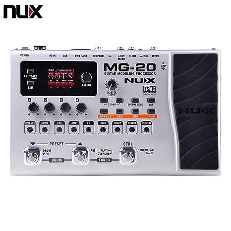 twinbuys Nux MG-20 eléctrico modelado guitarra ME-25 suelo máquina de efectos de