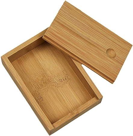 Finelyty Finamente Caja De Madera De Bambú con Tapa, Caja De Almacenamiento De Herramientas, Caja De Joyas Marrón Natural: Amazon.es: Hogar