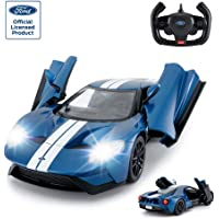 RASTAR RC Car | 1/14 Ford GT Remote Control RC Race Toy Car for Kids, Open Doors by Manual, Blue Racing rc car 12.6 x 5…