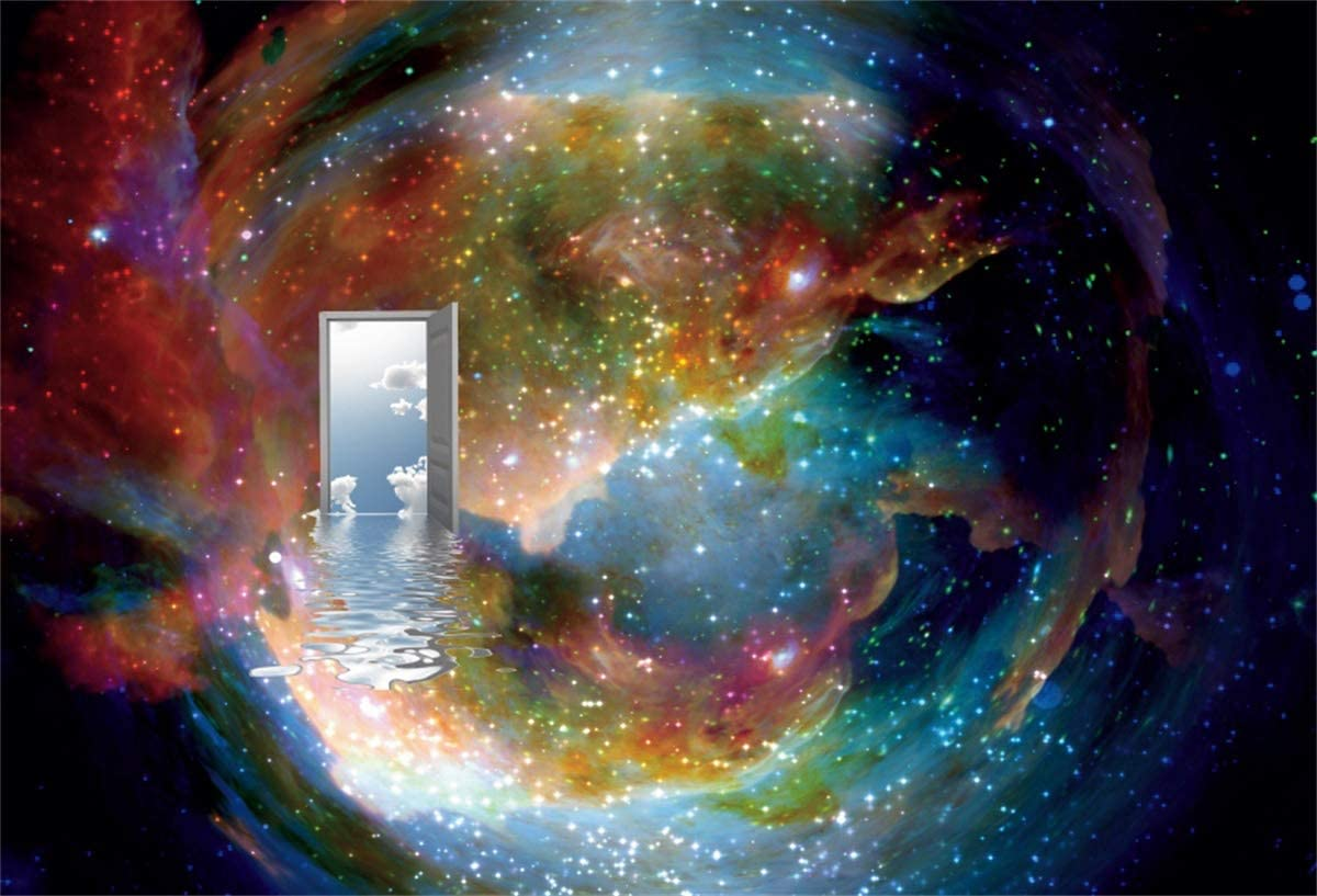 YEELE 10x8ft Heaven Gates Backdrop Fantasy Paradise Open Door to Another World Photography Background Paradise Entry Rebirth Easter Events Artistic Portrait Photobooth Props Digital Wallpaper