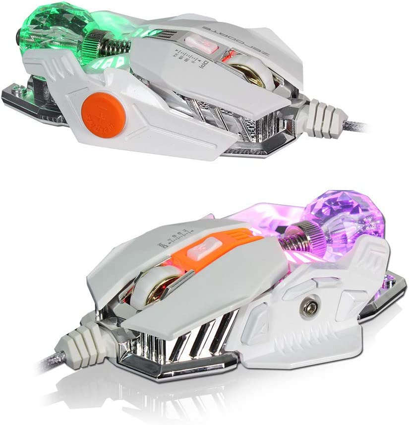 WAWRR Colorful Wired Mouse,E-Sports Mechanical Mouse Wired Gaming Mouse 9-Key Programming Mouse eat Chicken 4000dpi Adjustable