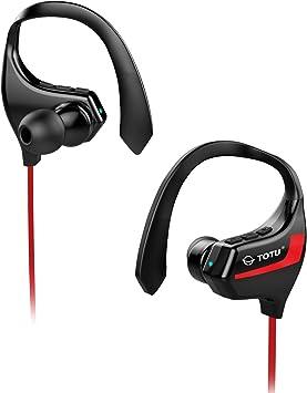 TOTU BT-2 Auriculares Bluetooth 4.1 Sport Inalámbricos Stereo Cuello con micrófono resistente al sudor para iOS, Android, iPad, Smartphones: Amazon.es: Electrónica