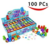 100 Pieces Assorted Stamps for Kids Self-ink Stamps (50 DIFFERENT Designs, Emoji Stampers, Dinosaur Stampers, Zoo Safari Stampers) for Party Favor, School Prizes, Teacher Stamps.