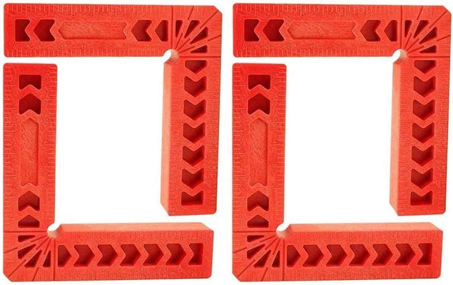 porte Positionnement des carr/és /à 90 degr/és,4 pi/èces Plastique 90 degr/és r/ègle /à angle droit outil de type L pour bo/îte fabrication de cadres photos-3/_pouces
