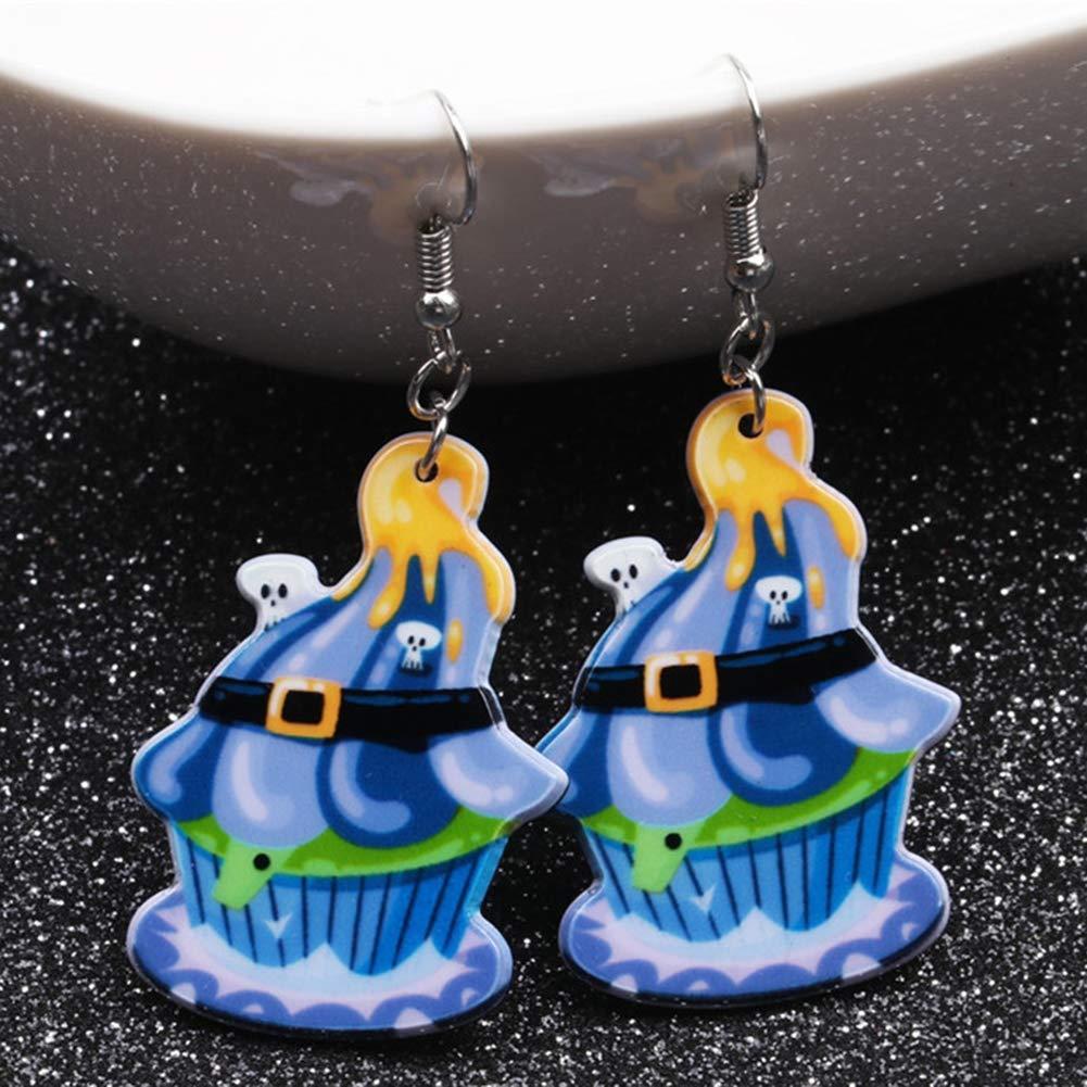 Babasee Ghost Pumpkin Bat Ice Cream Gift Drop Dangle Earrings Halloween Themed Jewelry