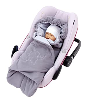 byboom® – Manta con capucha para entretiempo y verano para portabebés, asiento de coche, por ejemplo maxi-cosi, Römer, para carrito, Buggy, ...