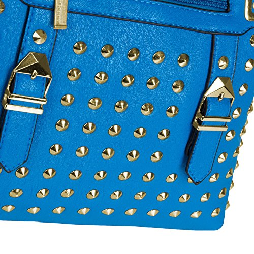 VanGoddy Street Level, Borsa a tracolla donna nero Black M Blue