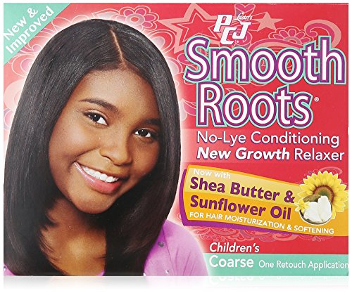 Lusters PCJ Pretty-N-Silky Smooth Roots No-Lye Conditioning New Growth Relaxer Kit, Childrens Coarse - 4 OZ