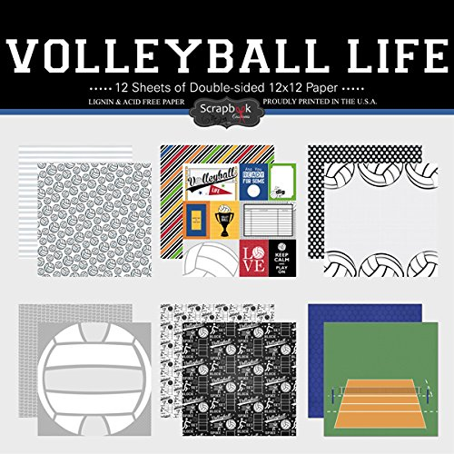 Scrapbooking Volleyball - Scrapbook Customs Themed Paper Scrapbook Kit, Volleyball Life