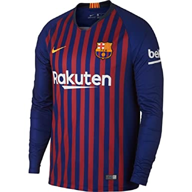 NIKE 2018-2019 Barcelona Home Long Sleeve Jersey (Deep Royal Blue) (XL