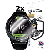 IPG for GOLFBUDDY aim W10 Golf GPS Smartwatch Screen Protector (2 Units) Invisible Ultra HD Clear Film Anti Scratch Skin Guar