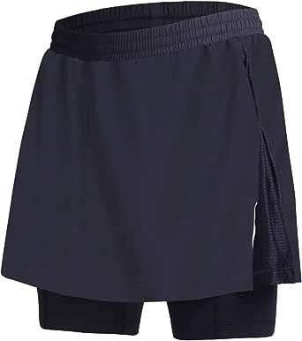 BEROY Women Quick Dry Breathable Cycling Skirt Shorts,Bike Skorts Pantskirt 3D Padded